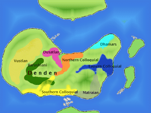 Language distribution in      northern Andal